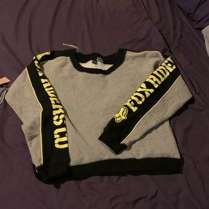 Fox riders cropped sweatshirt M